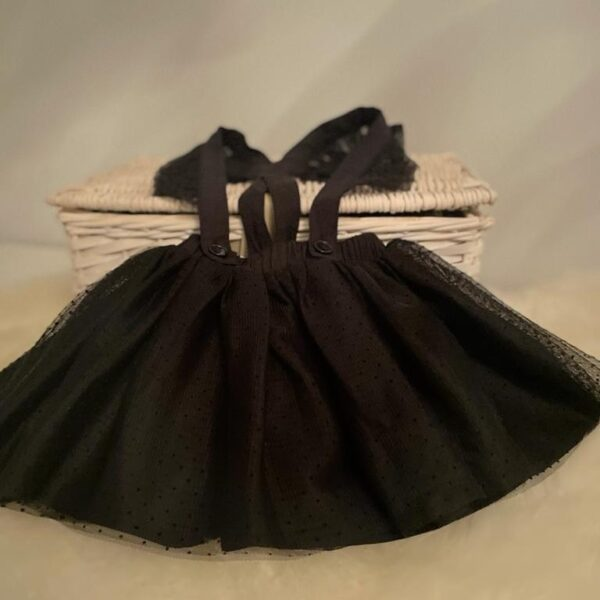 zwarte babyjurkje